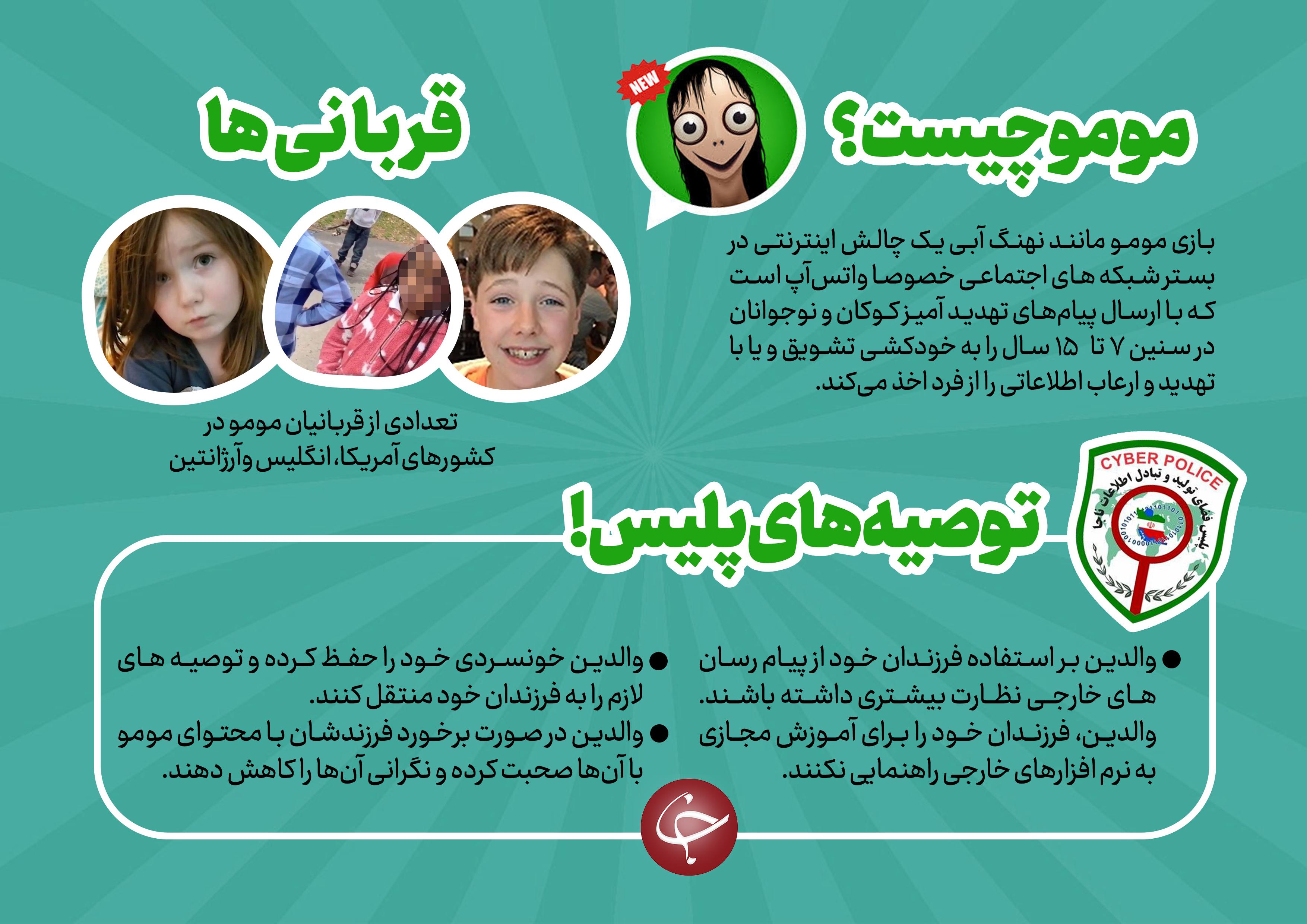 راههای جلوگیری از به دام افتادن کودکان به چالش مومو + اینفوگرافیک