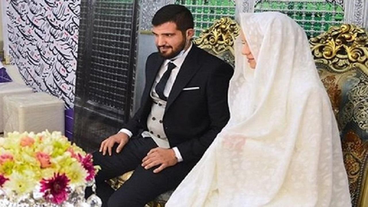 ازدواج داماد لبنانی و عروس اوکراینی تازه مسلمان در حرم شاه عبدالعظیم