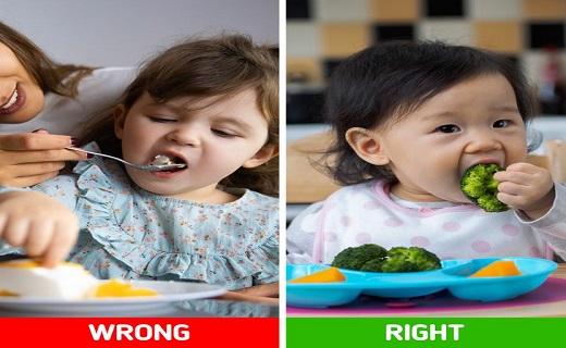 غذا دادن به کودک لجباز