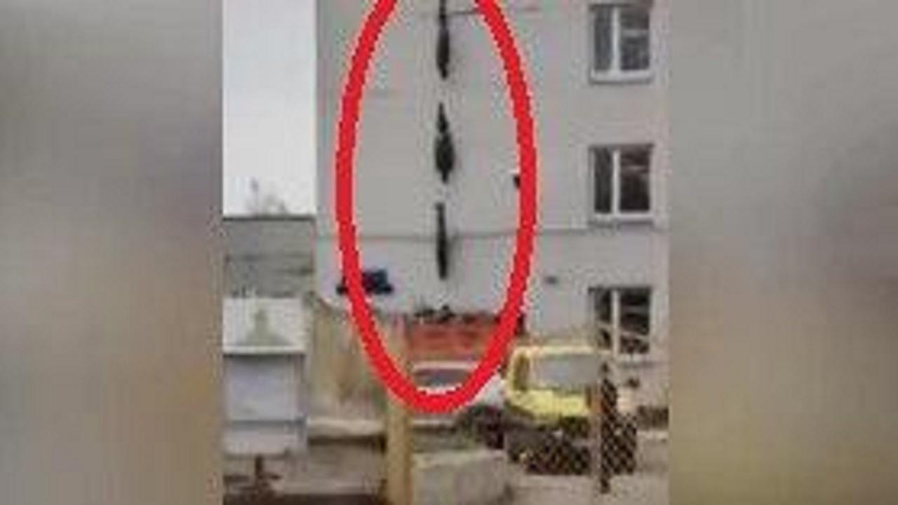 ماجرای اجساد کرونایی آویزان از ساختمان بیمارستانی در روسیه + فیلم