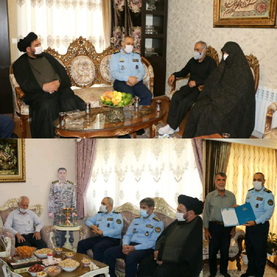 امیر نصیرزاده با خانواده شهدای مدافع حرم دیدار کرد