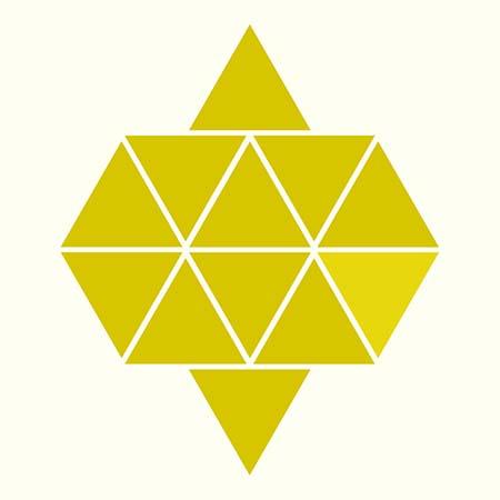 مثلث با رنگ متفاوت را پیدا کنید و بینایی خود را بسنجید