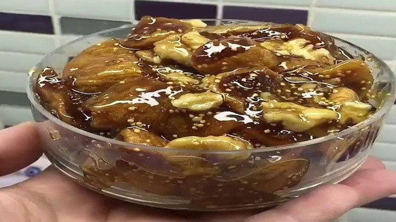 طرز تهیه دسر خوشمزه و مقوی انجیر و گردو