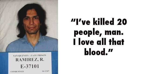 ۲۱ جمله مخوف از قاتلان سریالی معروف که به اندازه جنایت هایشان ترسناک هستند