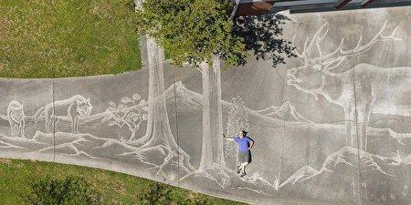 نقاشی حیرت انگیز و بینظیر یک هنرمند خلاق با «آب»
