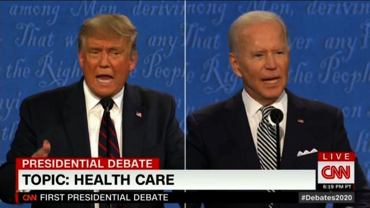 اولین مناظره «جو بایدن» و «دونالد ترامپ»+ پوشش زنده
