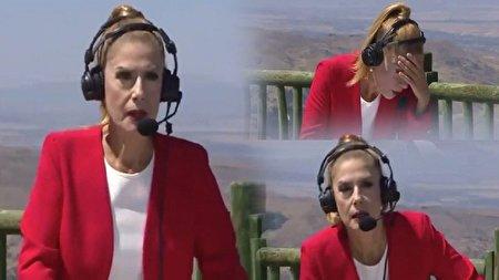 لحظه غشکردن مجری در پخش زنده برنامه تلویزیونی