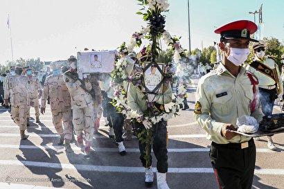 تشییع و خاکسپاری پیکر شهید مرزبان هرمزگانی «محمد احمدی سکل»