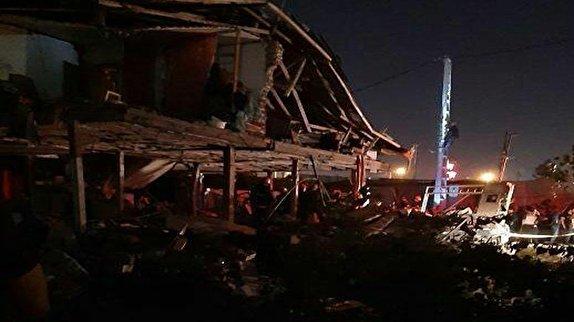 باشگاه خبرنگاران -انفجار منزل مسکونی در قائمشهر بر اثر نشت لوله گاز + فیلم