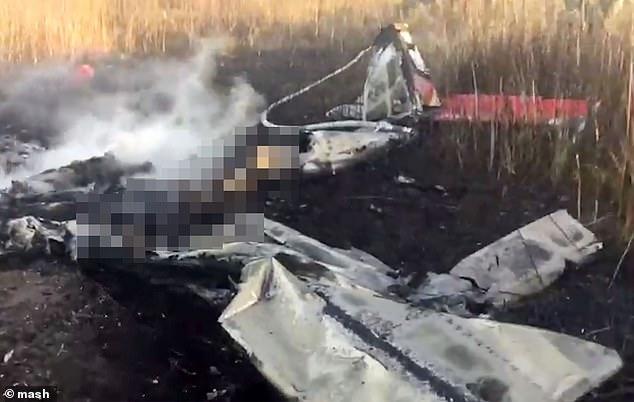 مرگ مجری معروف تلویزیون روسیه در سقوط هواپیما + فیلم