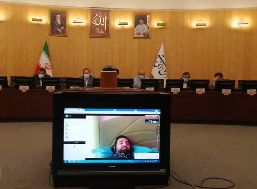 حضور آذریجهرمی در جلسه مجمع نمایندگان تهران به صورت مجازی