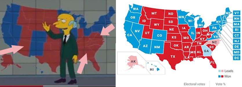 ماجرای پیشبینی انتخابات آمریکا توسط سیمپسونها + فیلم