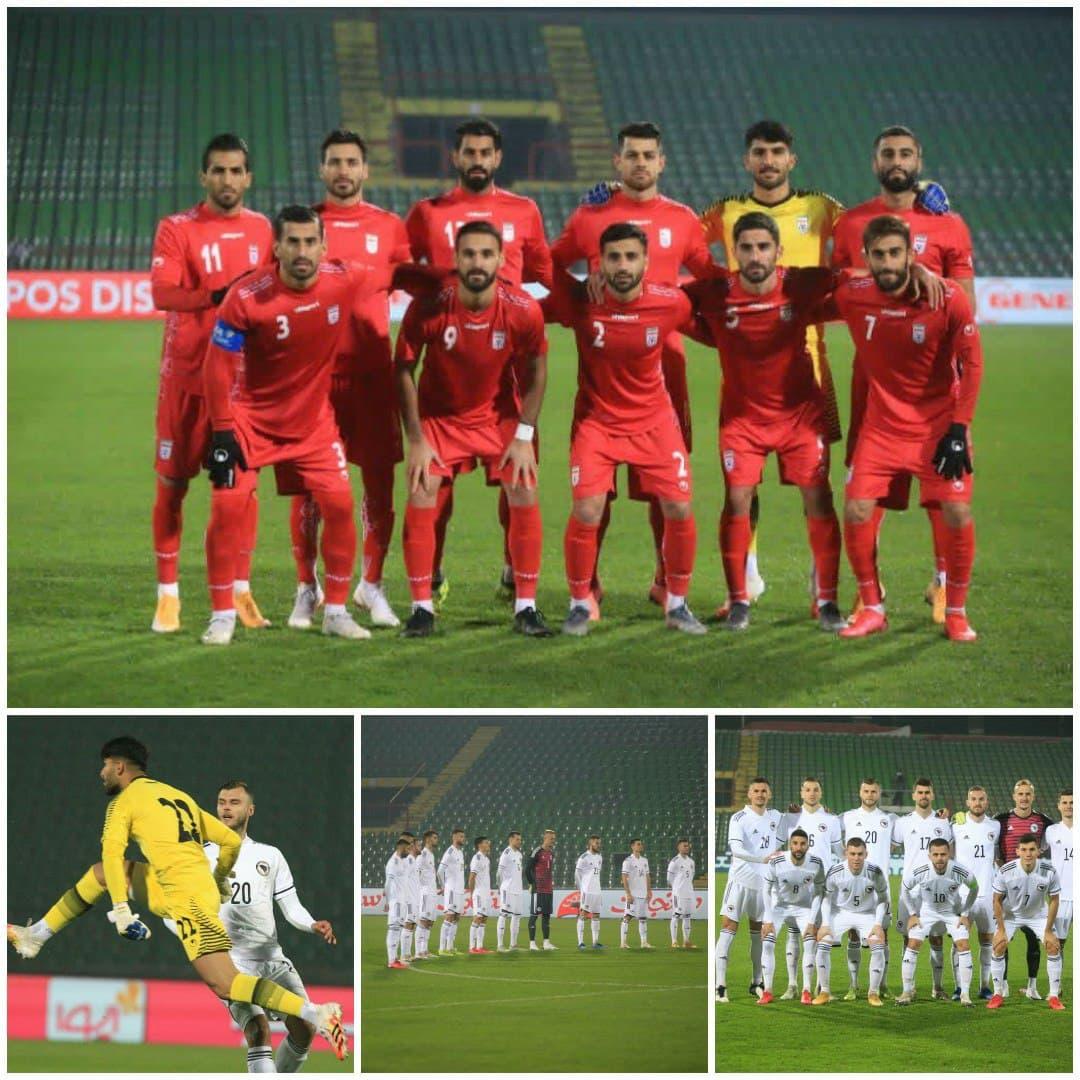 ایران صفر - بوسنی صفر / پایان نیمه اول