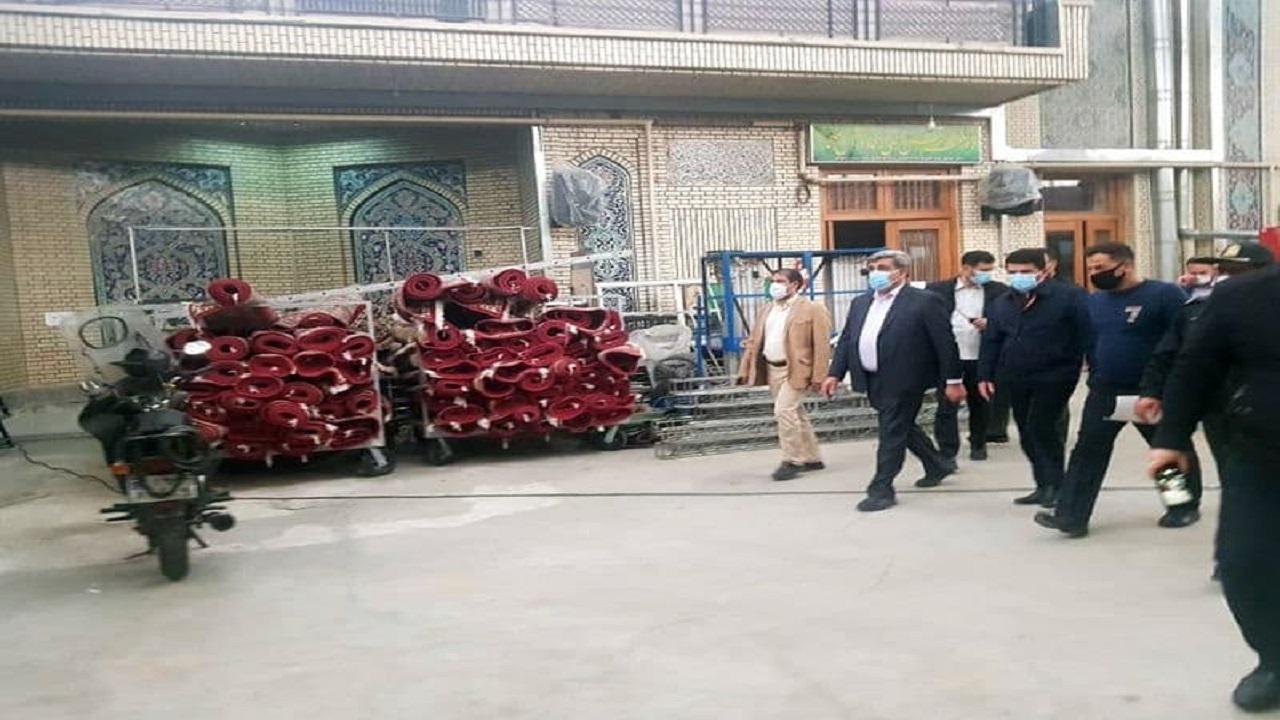  بازدید شهردار تهران از آخرین وضعیت مرمت و ایمن سازی مسجد ارک