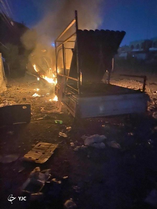 اصابت چند موشک کاتیوشا به منطقه سبز بغداد+ فیلم و تصاویر