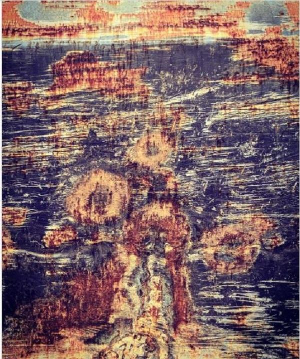 نقاشی هنری هانیه توسلی که پس از چند ماه رونمایی کرد