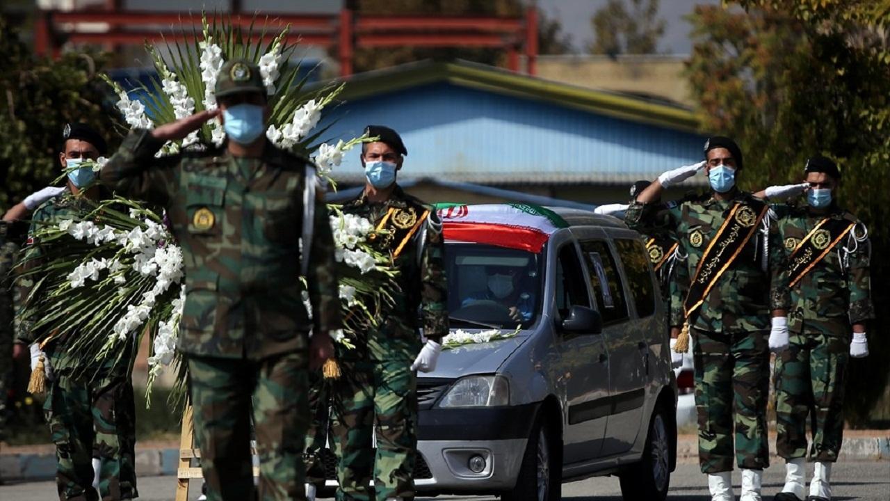 تشییع هفتمین شهید مدافع سلامت نیروی زمینی ارتش