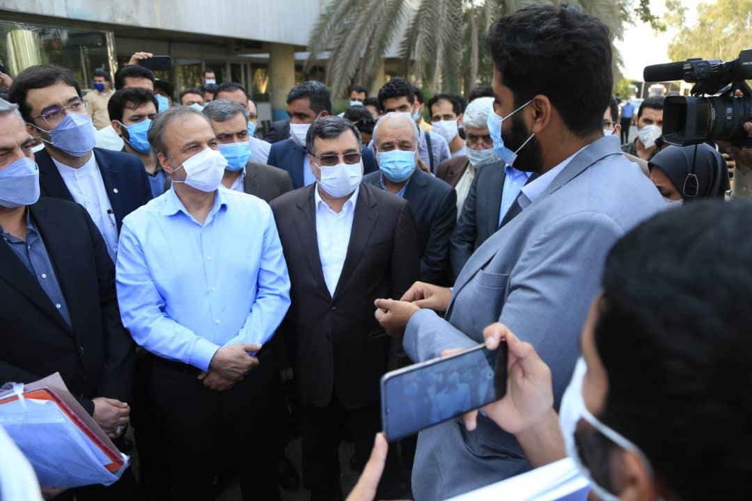 بازدید رزم حسینی وزیر صمت