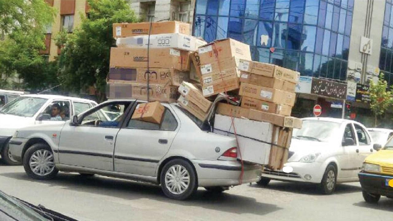 باربری با خودروهای لاکچری در تهران/ هنجارشکنی رانندگان که جان شهروندان را به خطر میاندازد + تصاویر