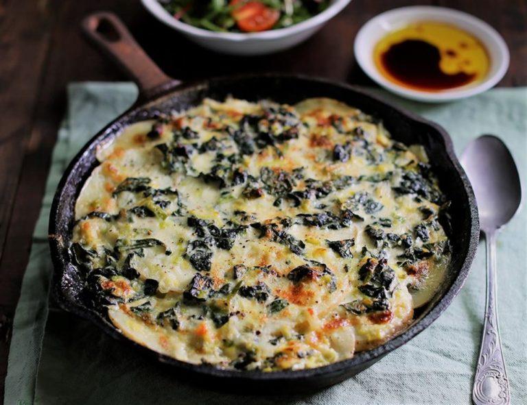 طرز تهیه و فوت و فن گراتن مرغ و قارچ با پنیر ؛ در فر و بدون فر