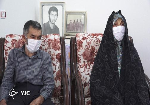 پدر و مادر شهید سید علی اصغر طاهر