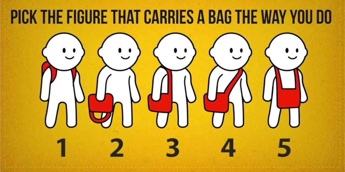 تست شخصیت مطابق با حمل کیف