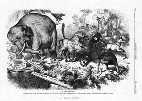 فیل و الاغ چگونه به نماد جمهوری خواهان و دموکراتهای آمریکا تبدیل شدند؟