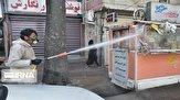 باشگاه خبرنگاران -تصاویری از ضدعفونی کردن بیآرتی و بازارچه تجریش توسط نیروهای جهادی