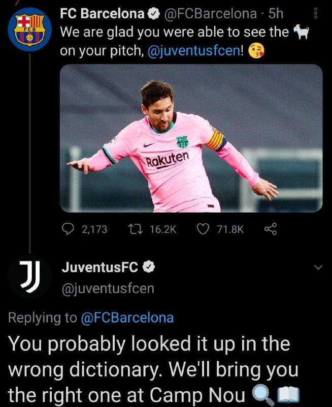 کل کل ادامه دار توییتر بارسلونا و یوونتوس/////