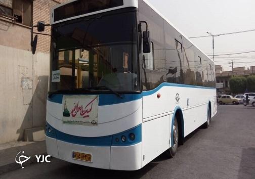 اتوبوسهای درون شهری اهواز به نام پیامبر اکرم (ص) مزین شدند