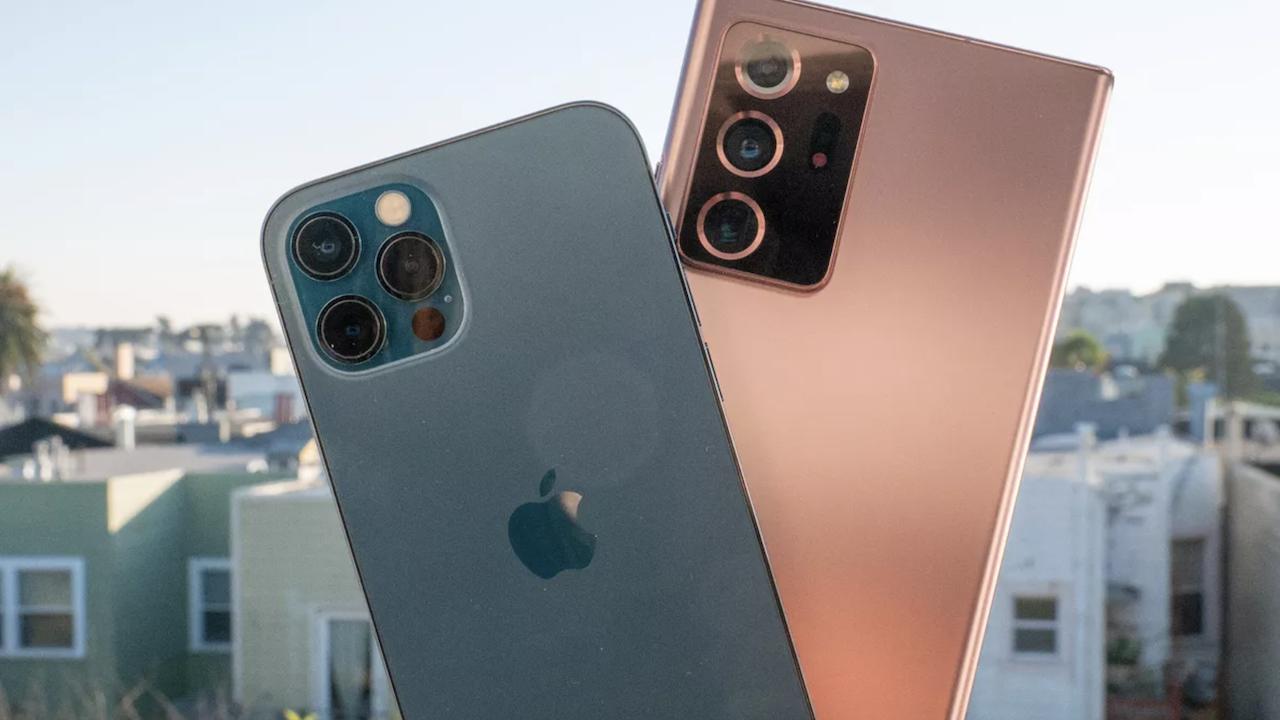 مقایسه طراحی iPhone 12 Pro Max و Galaxy Note 20 Ultra