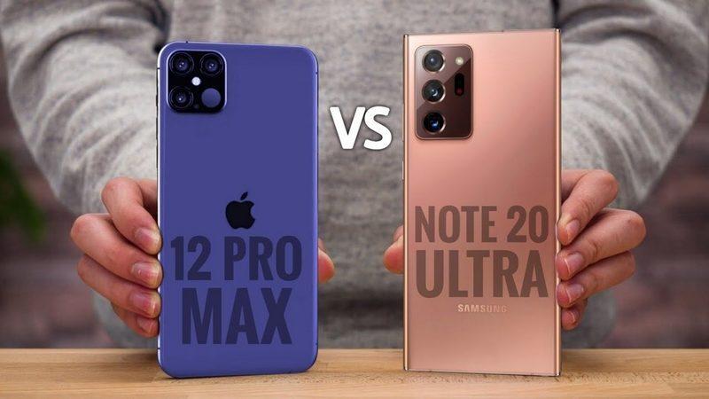 جزئیات مشخصات فنی iPhone 12 Pro Max و Galaxy Note 20 Ultra