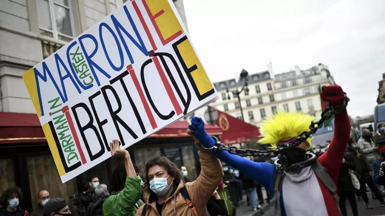 تظاهرات در فرانسه علیه تصویب قانون ممنوعیت انتشار تصاویر پلیس