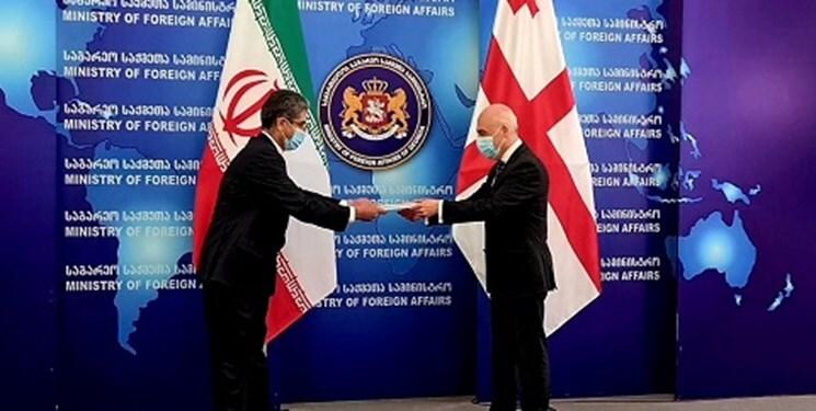 سفیر جدید ایران رونوشت استوارنامه خود را تقدیم وزیر خارجه گرجستان کرد