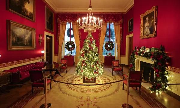 تصاویری از آخرین جشن کریسمس در کاخ سفید
