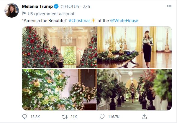 تصاویری از آخرین جشن کریسمس در کاخ سفید +تصاویر