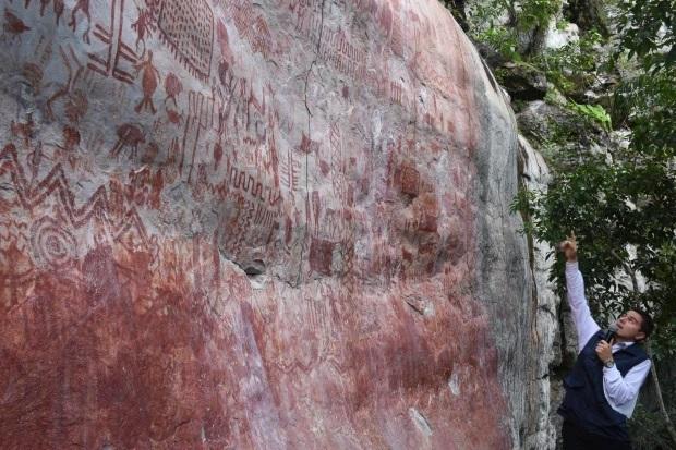 کشف کیلومترها نقاشی صخرهای عصر یخبندان در آمازون+تصاویر