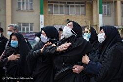 باشگاه خبرنگاران - تشییع شهید سلامت «زهرا سوری» - شیراز