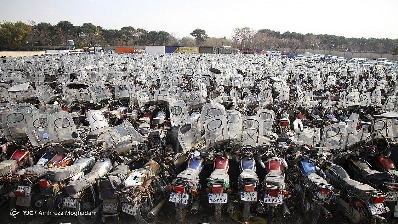 ترخیص ۵۰ هزار موتورسیکلت رسوبی تا امروز