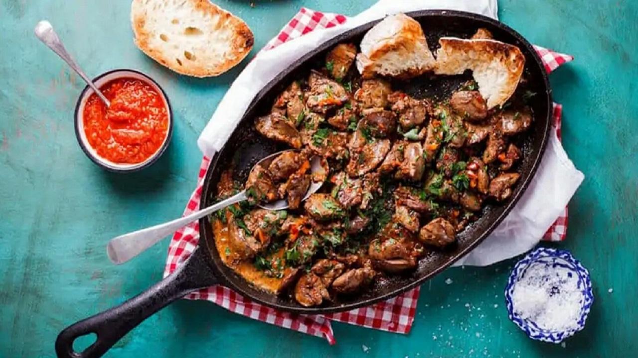 فست فود ایرانی   طرز تهیه خوراک جگر مرغ خوشمزه با سیبزمینی