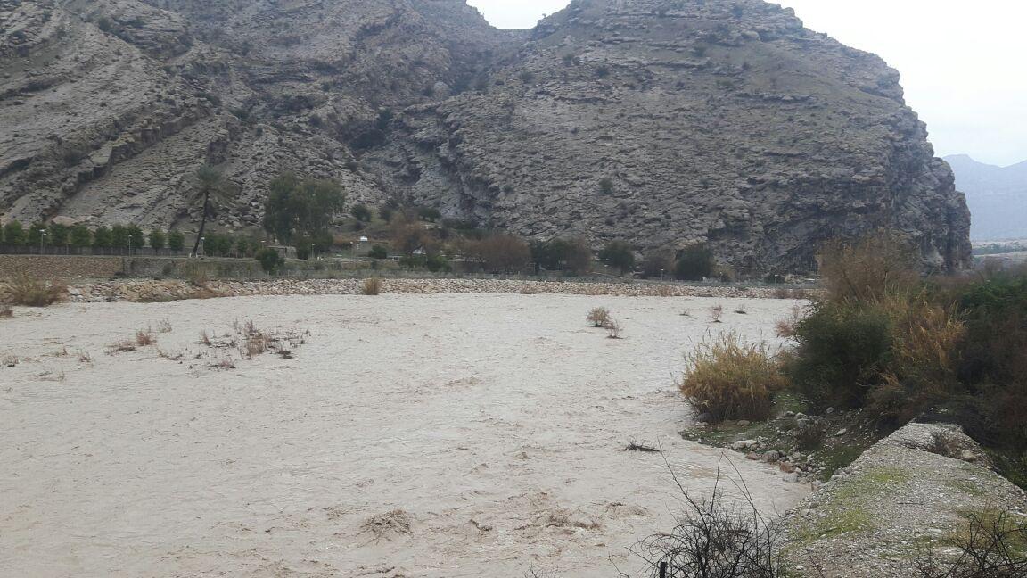رودخانههای شمال بوشهر سیلابی شد