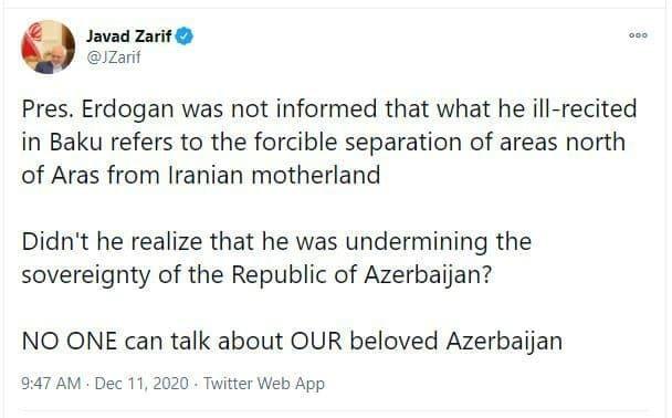 هیچ کس نمیتواند درباره آذربایجان عزیز ما صحبت کند
