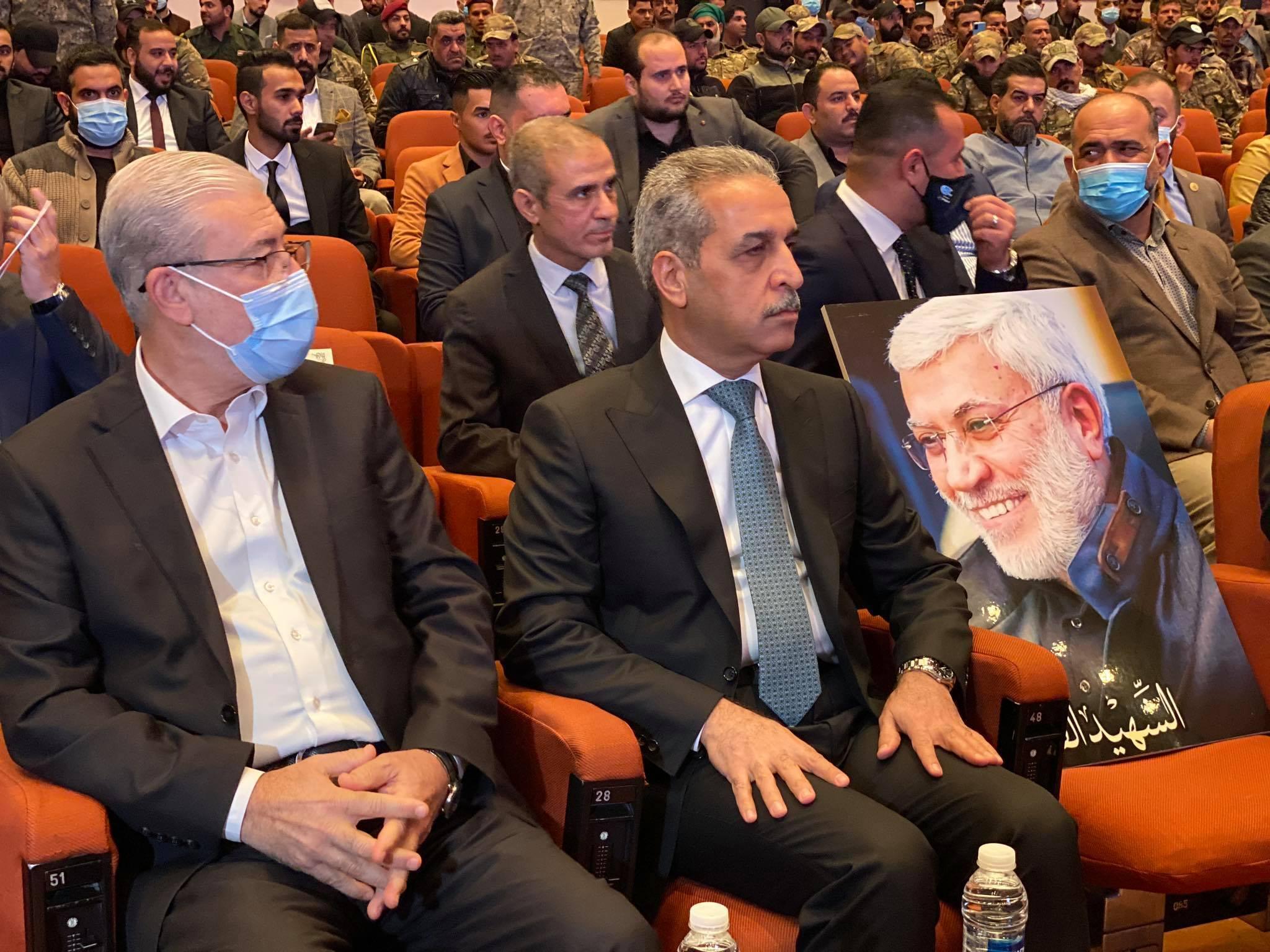 برپایی نمایشگاه ویژه سالگرد شهادت سردار سلیمانی و المهندس در عراق+ تصاویر