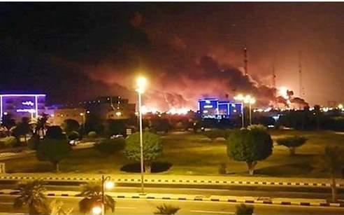 حمله به تاسیسات نفتی آرامکو با موشک قدس ۲+ فیلم