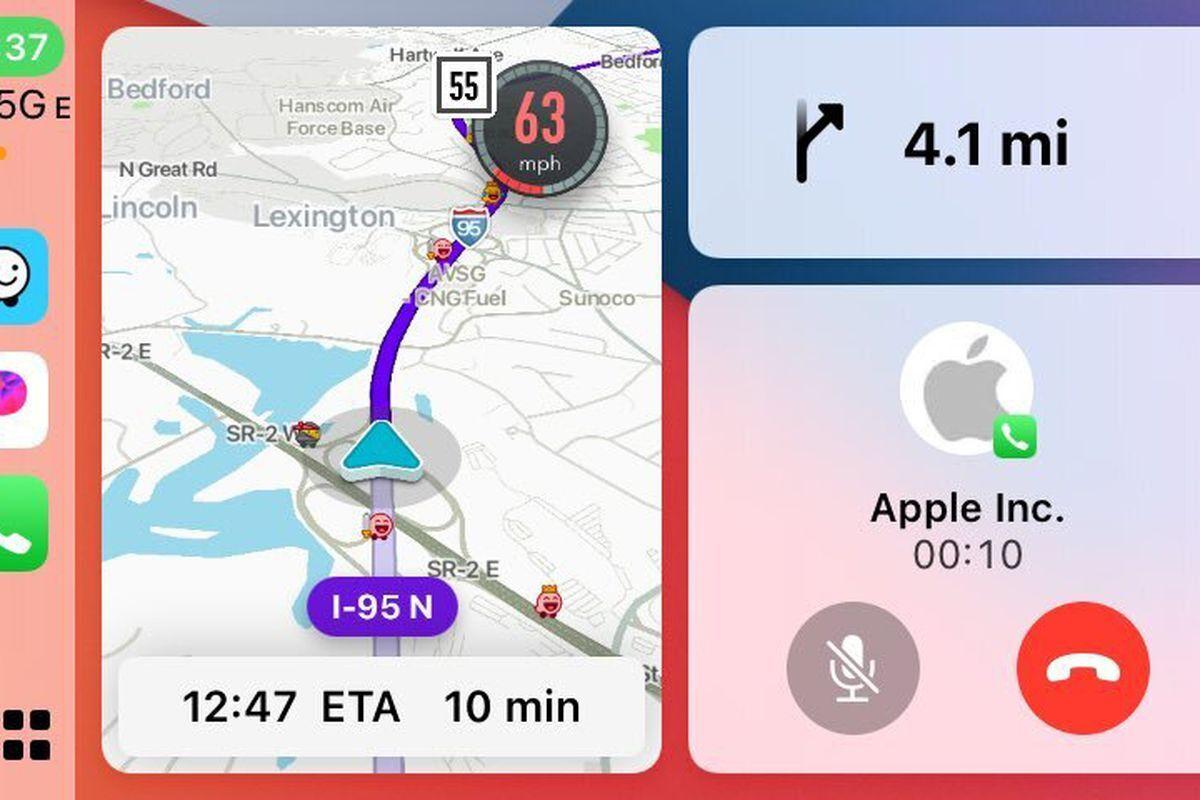 پشتیبانی Waze از حالت split-view CarPlay