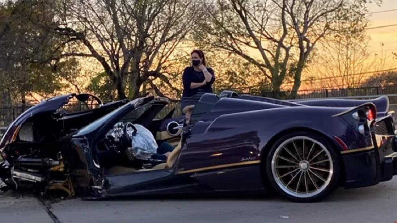 لحظه نابود شدن ماشین لوکس ۳.۴ میلیون دلاری!