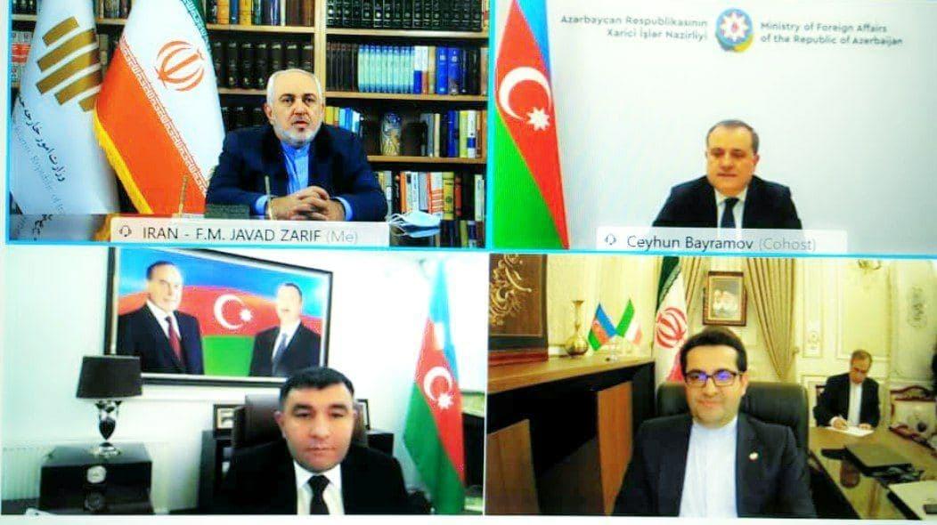 گفتوگوی ویدئویی ظریف با همتای آذربایجانی