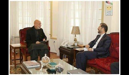 رایزنی سخنگوی وزارت امور خارجه کشورمان با رئیس جمهور سابق افغانستان