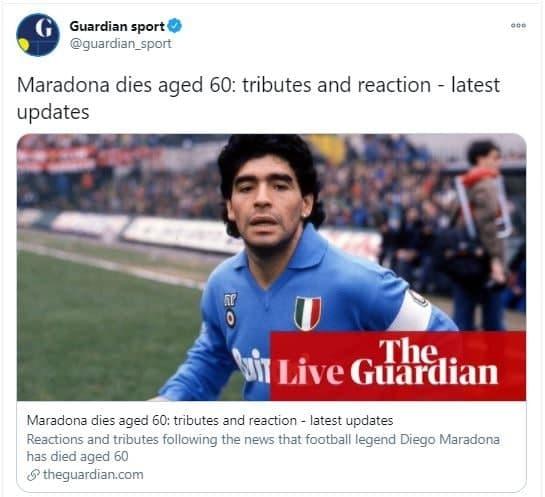 واکنش چهره ها به خبر فوت دیه گو مارادونا