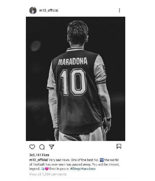 واکنش ستارههای فوتبالی و غیر فوتبالی به درگذشت مارادونا